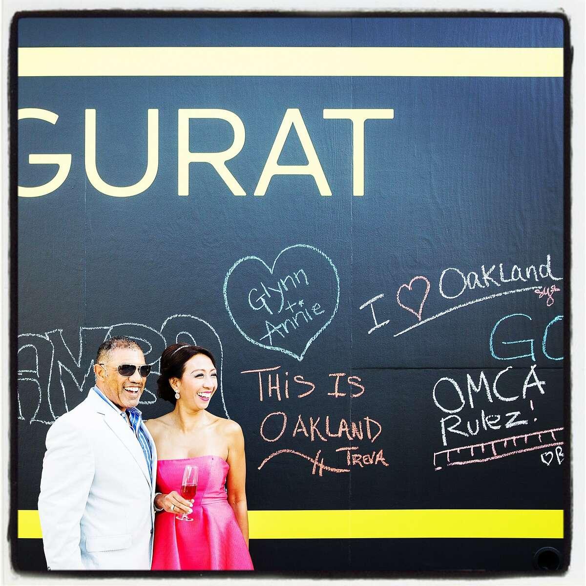 Stephen Parker and OCMA trustee Estrella Parker at the Ziggurat Gala. June 2016. Greg Petersen Photography