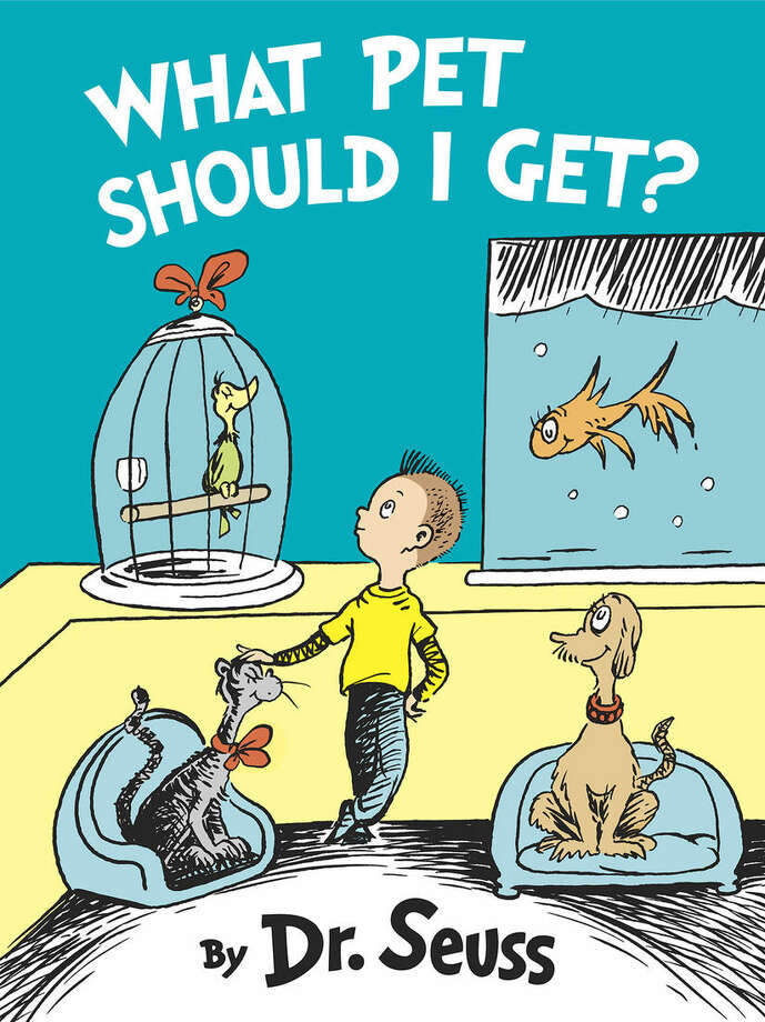 "This book cover image released by Random House shows ""What Should I Get Pete,"" by Dr. Seuss. Random House Children's Books announced Wednesday that ""What Pet Should I Get"", a recently discovered manuscript with illustrations, is coming out July 28. (AP Photo/Random House)"