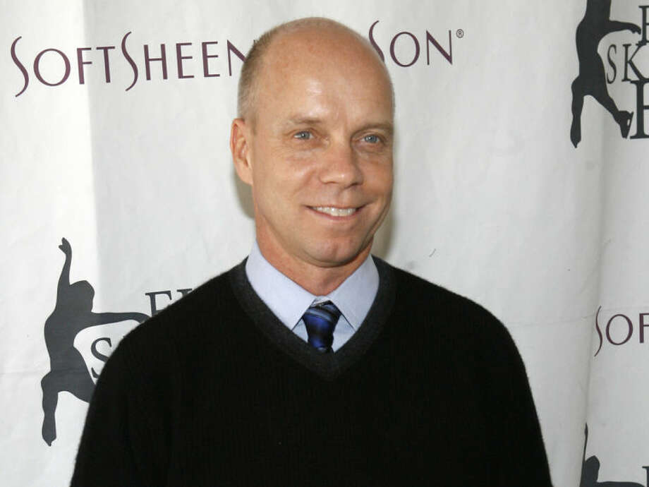 "FILE - In this April 9, 2007, file photo, Olympic figure skating gold medalist Scott Hamilton arrives for Figure Skating In Harlem's annual gala ""Skating with the Stars"" at Central Park's Wollman Rink in New York. Hamilton is at his seventh Winter Olympics as a figure skating analyst. His signature is conveying to viewers the feeling that he's on the ice alongside the competitors, exhaling in disappointment at a slip or shouting in triumph when a skater smoothly lands a complicated jump. (AP Photo/Jason DeCrow, File)"