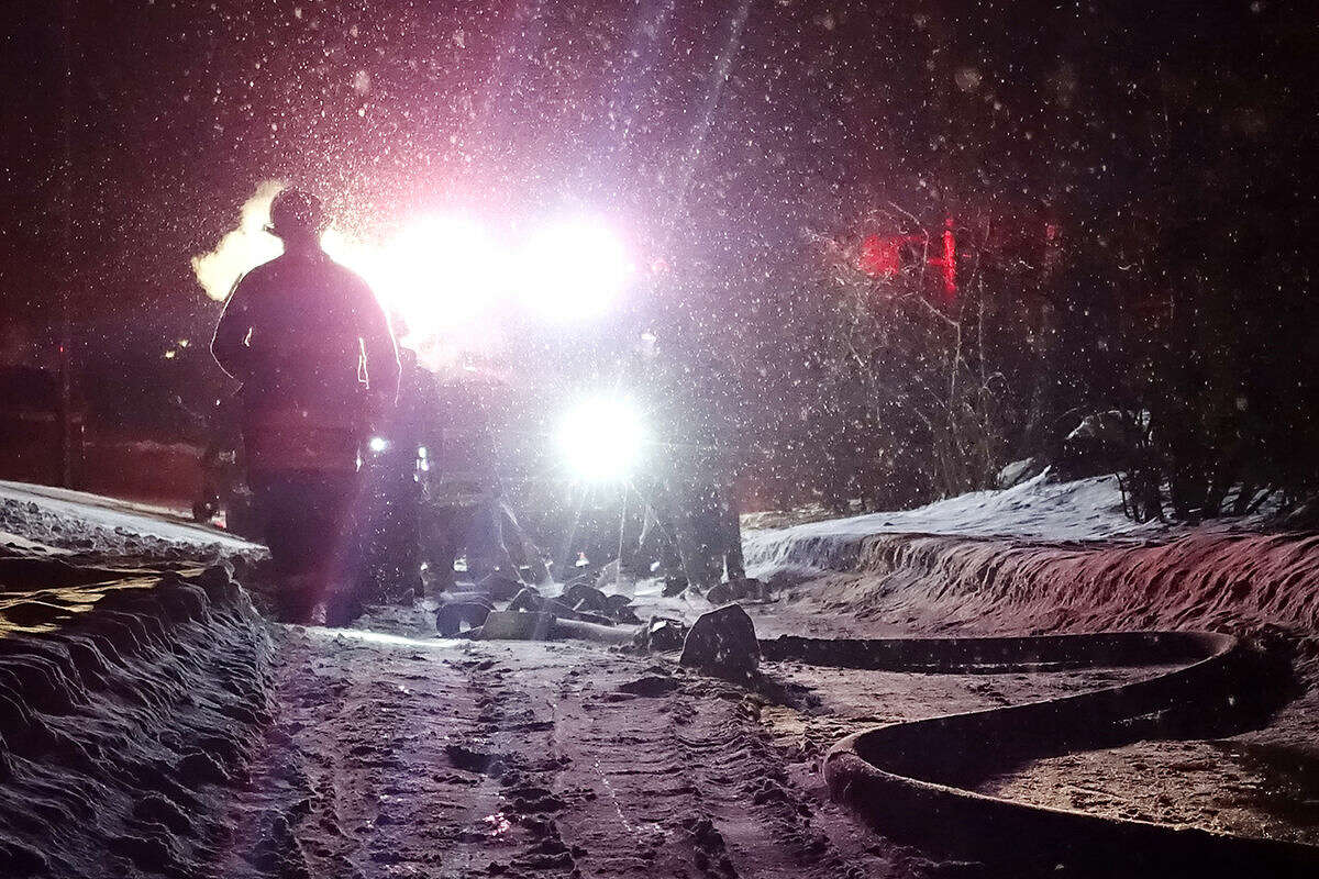Hour photo/Jeff Dale A Westport family is displaced after a Wednesday evening fire on Weathervane Hill Road according to Westport Fire Chief Andrew Kingsbury.