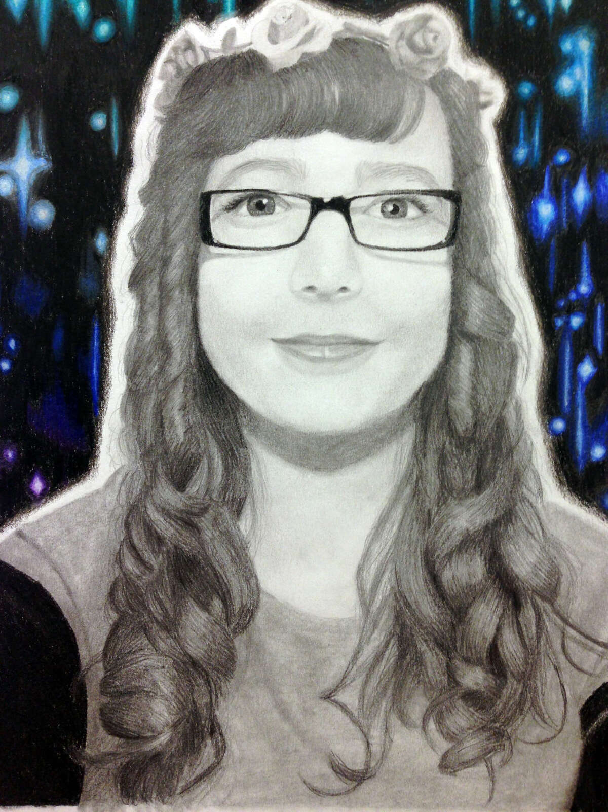 Contributed photo The award winning artwork of Michaela Lignelli, a senior at Norwalk High.