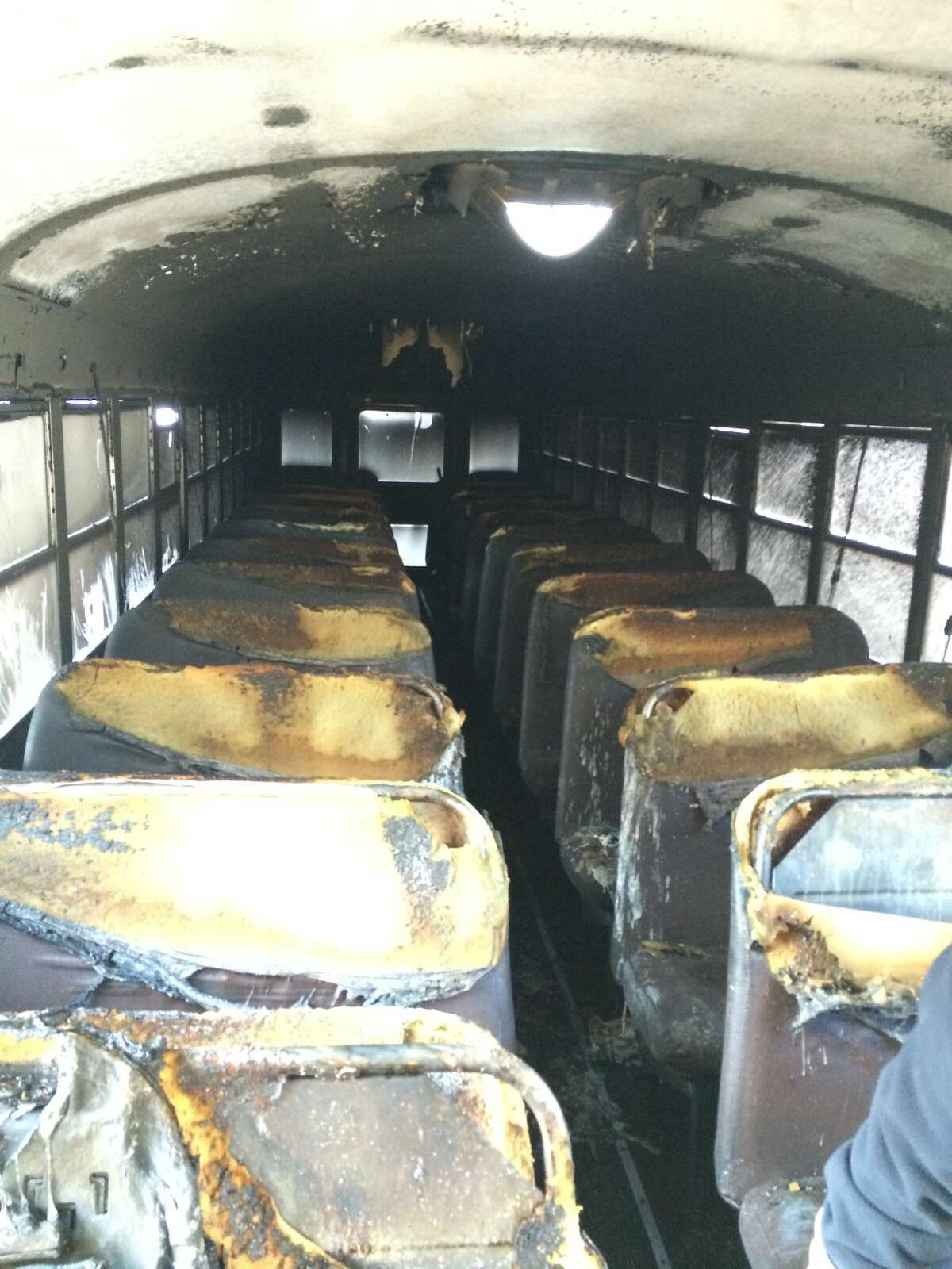 Contributed photo by Norwalk Fire Department Bus catches fire in South Norwalk. All passengers evacuated safely.