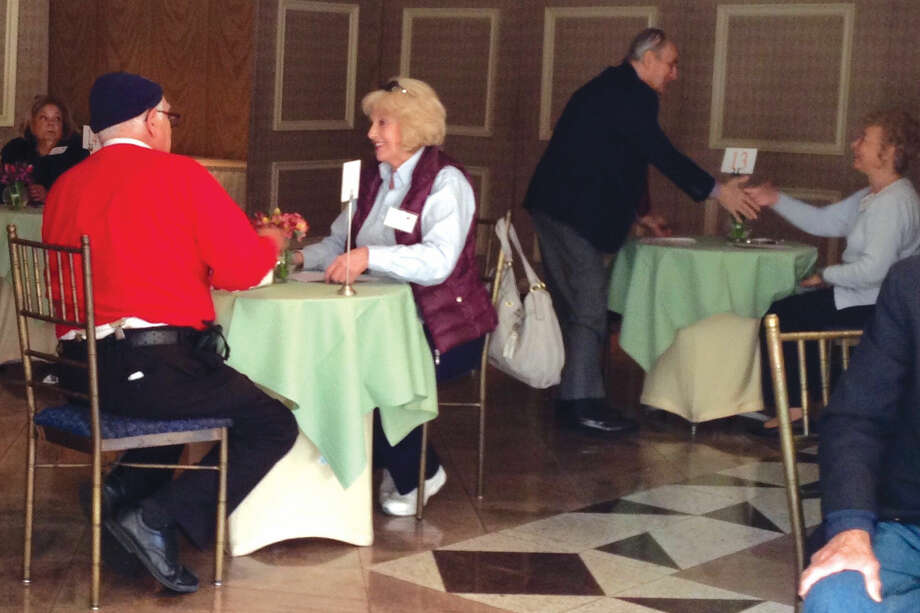 Contributed photoA senior speed dating event was held on Friday, March 11 in Darien, giving those aged 70-90 an opportunity to meet and mingle in a safe and comfortable environment. The event was presented by the Stamford Senior Center and SilverSource, Inc.