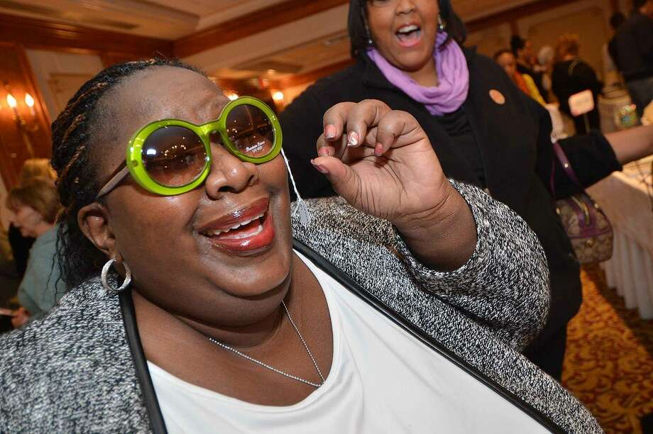 Hour Photo/Alex von Kleydorff A new pair of sunglasses for Nicole Ruffin at Beauty and the Bubbly