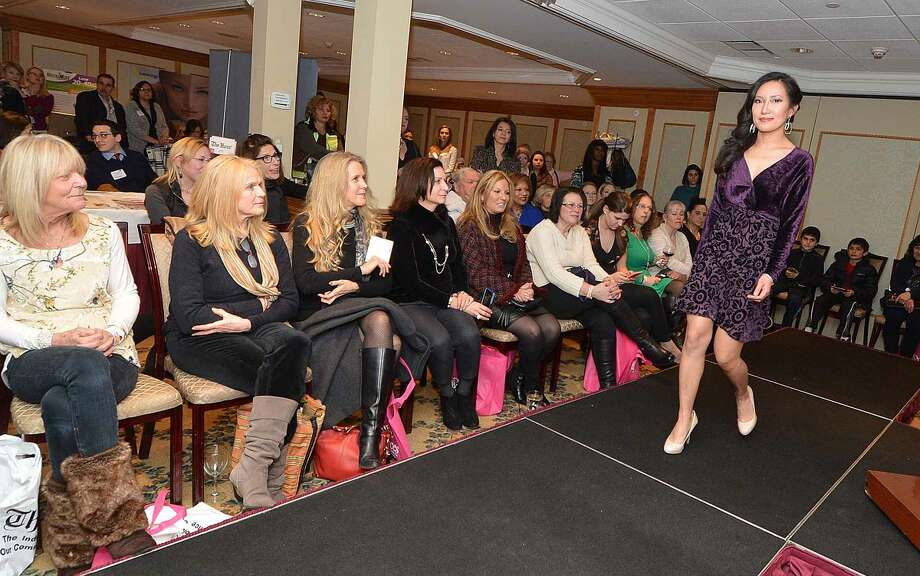 Hour Photo/Alex von Kleydorff Jennifer Butler fashion show at Beauty and the Bubbly