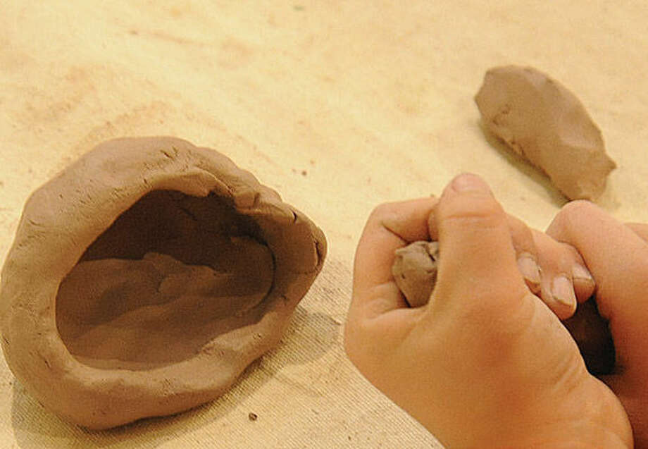 Pottery lesson among the arts and cratfs to sign up for Sunday at the Silvermine Arts Center Summer Camp Open House. Hour photo/Matthew Vinci
