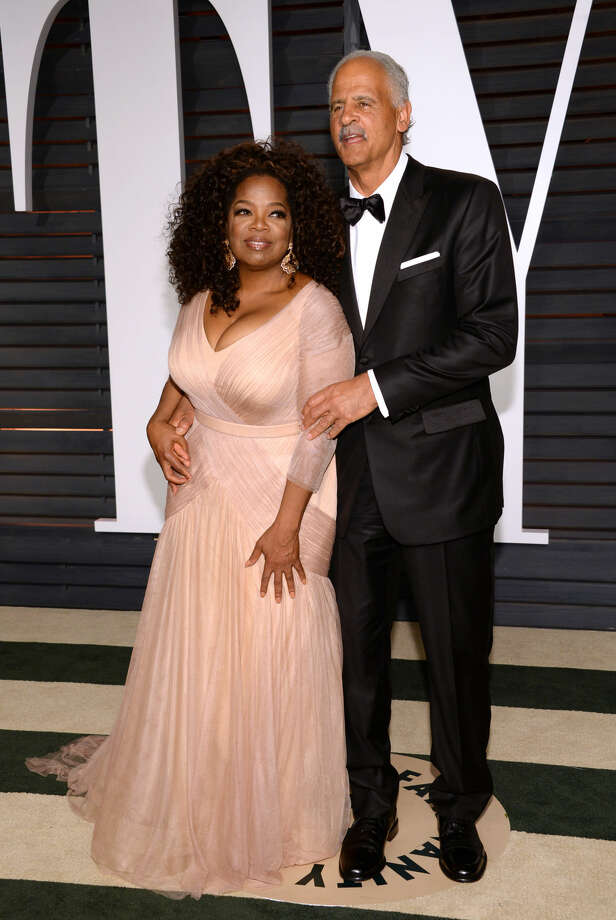 Oprah Winfrey, left, and Stedman Graham arrive at the 2015 Vanity Fair Oscar Party on Sunday, Feb. 22, 2015, in Beverly Hills, Calif. (Photo by Evan Agostini/Invision/AP)