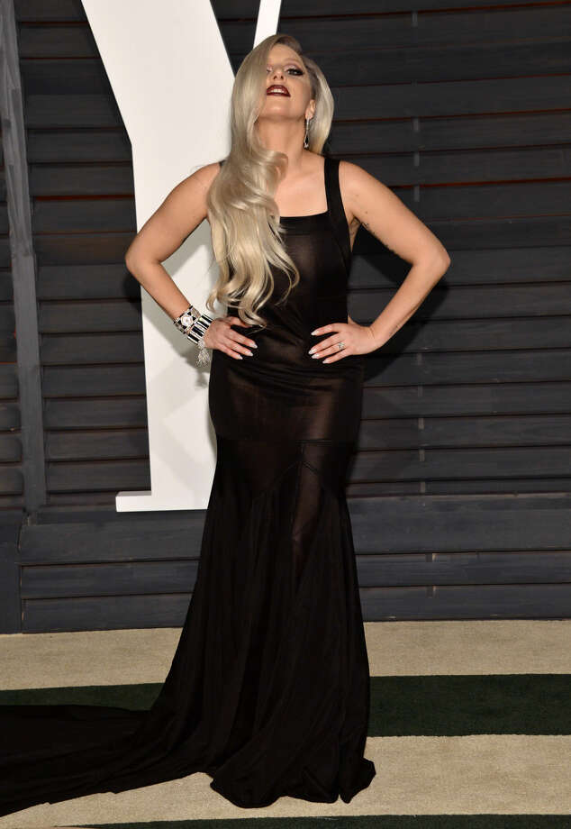 Lady Gaga arrives at the 2015 Vanity Fair Oscar Party on Sunday, Feb. 22, 2015, in Beverly Hills, Calif. (Photo by Evan Agostini/Invision/AP)