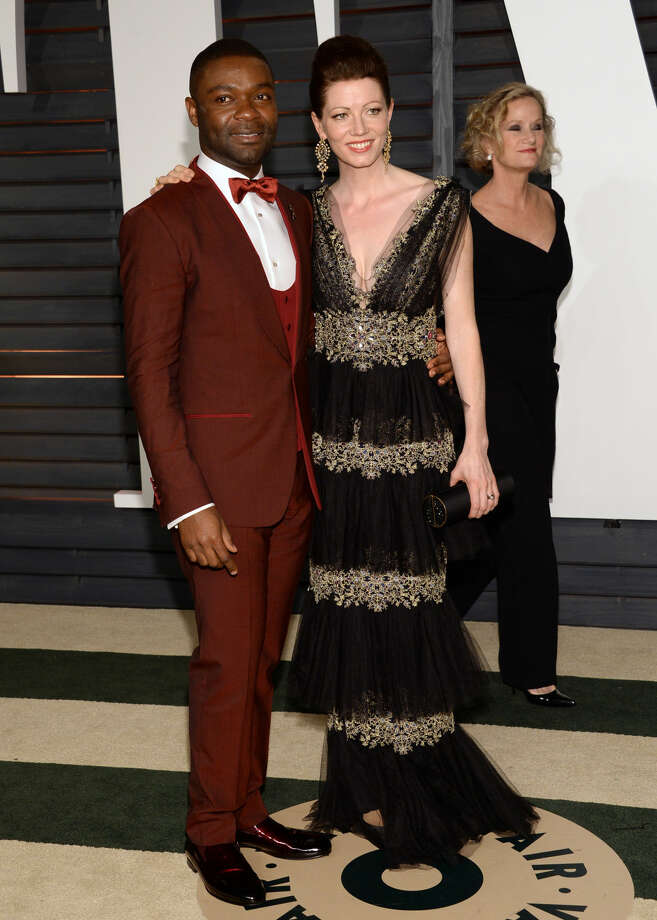 David Oyelowo, left, and Jessica Oyelowo arrive at the 2015 Vanity Fair Oscar Party on Sunday, Feb. 22, 2015, in Beverly Hills, Calif. (Photo by Evan Agostini/Invision/AP)