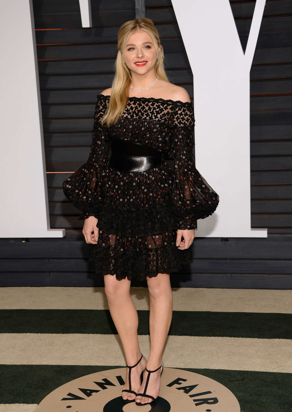 Chloe Grace Moretz arrives at the 2015 Vanity Fair Oscar Party on Sunday, Feb. 22, 2015, in Beverly Hills, Calif. (Photo by Evan Agostini/Invision/AP)