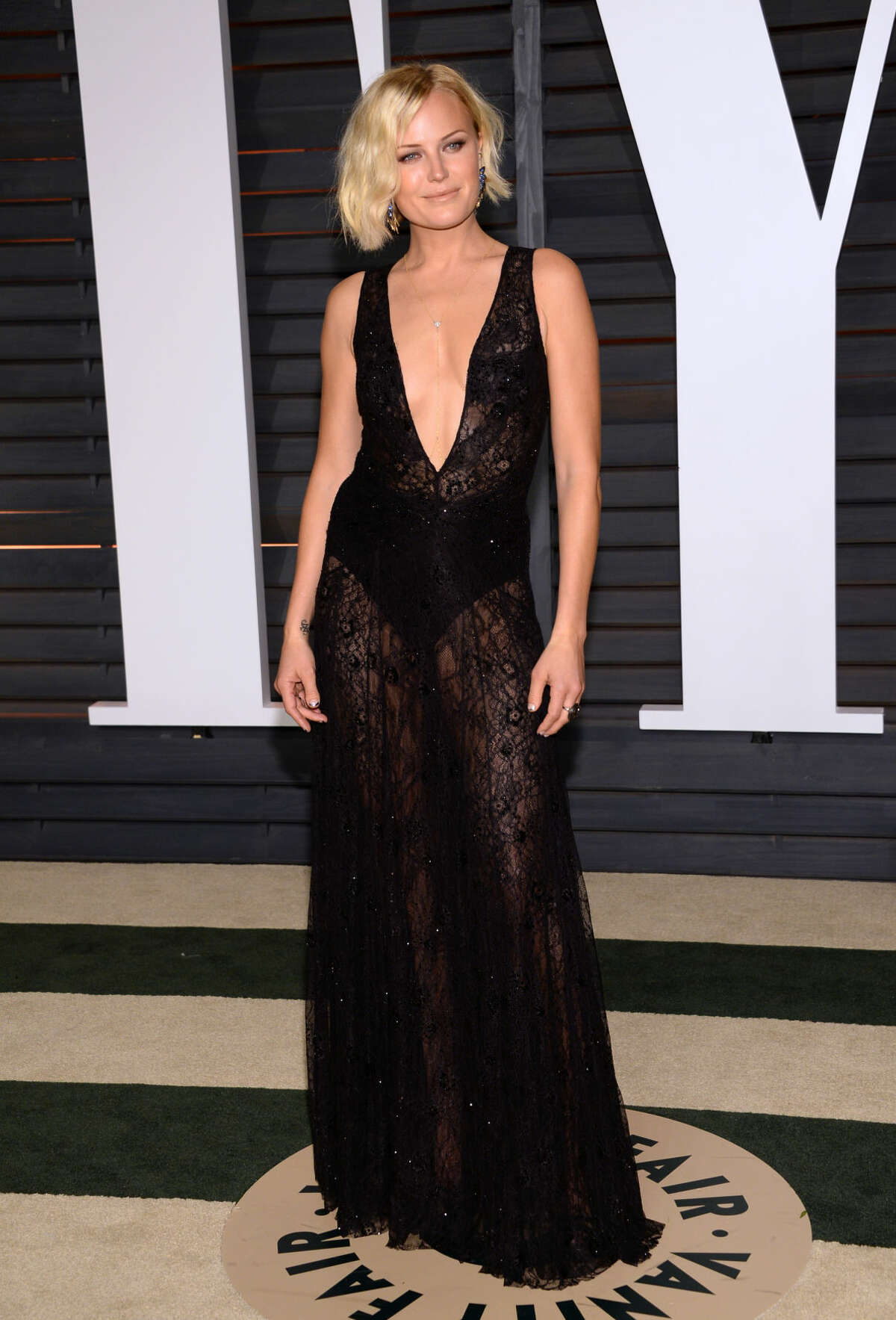 Malin Akerman arrives at the 2015 Vanity Fair Oscar Party on Sunday, Feb. 22, 2015, in Beverly Hills, Calif. (Photo by Evan Agostini/Invision/AP)