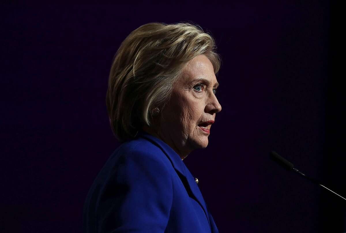 """WASHINGTON, DC - JUNE 10: Presumptive Democratic presidential nominee Hillary Clinton speaks during a Planned Parenthood Action Fund event June 10, 2016 in Washington, DC. Hillary Clinton addressed Planned Parenthood members on """"what's at stake for reproductive health care and women's rights in the upcoming presidential election."""" (Photo by Alex Wong/Getty Images)"""