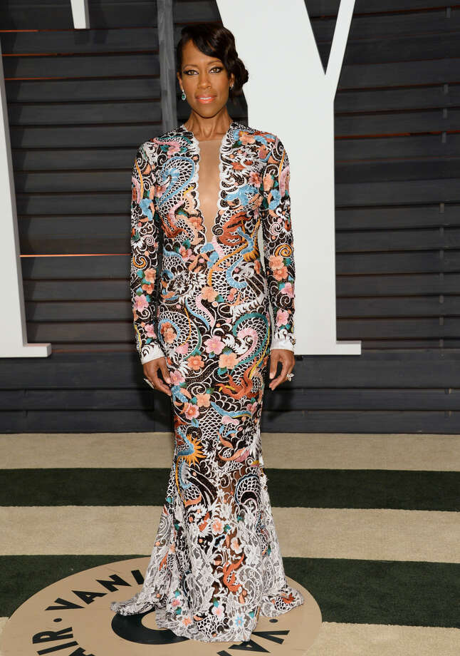 Regina King arrives at the 2015 Vanity Fair Oscar Party on Sunday, Feb. 22, 2015, in Beverly Hills, Calif. (Photo by Evan Agostini/Invision/AP)