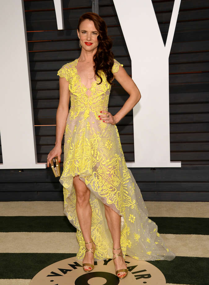 Juliette Lewis arrives at the 2015 Vanity Fair Oscar Party on Sunday, Feb. 22, 2015, in Beverly Hills, Calif. (Photo by Evan Agostini/Invision/AP)