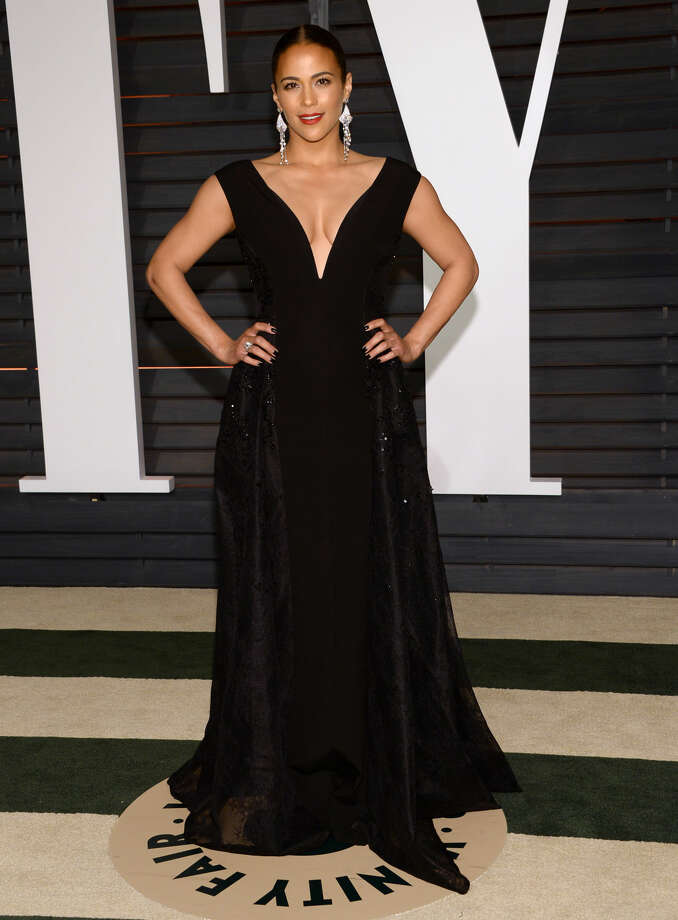 Paula Patton arrives at the 2015 Vanity Fair Oscar Party on Sunday, Feb. 22, 2015, in Beverly Hills, Calif. (Photo by Evan Agostini/Invision/AP)