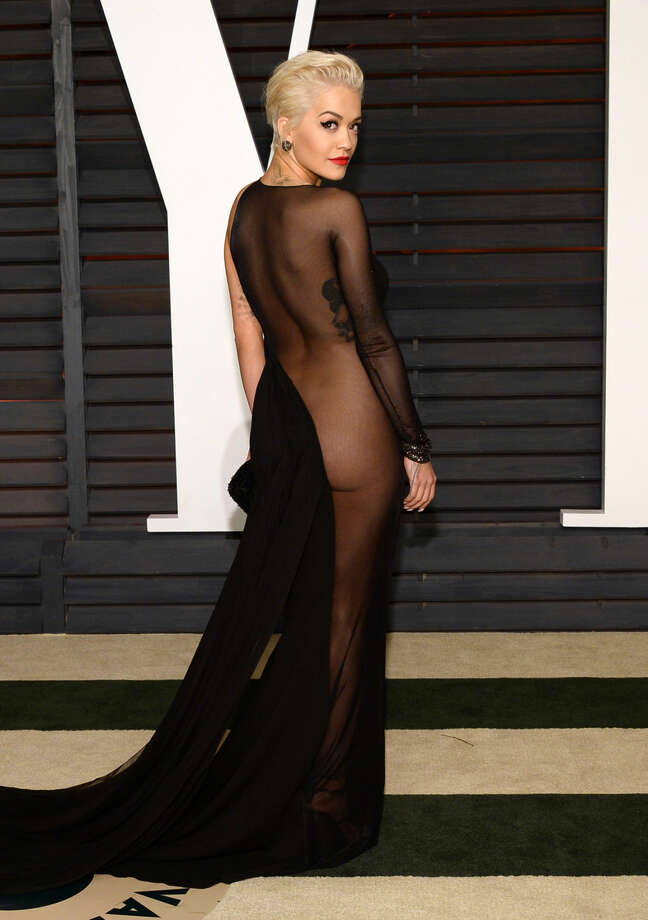 Rita Ora arrives at the 2015 Vanity Fair Oscar Party on Sunday, Feb. 22, 2015, in Beverly Hills, Calif. (Photo by Evan Agostini/Invision/AP)