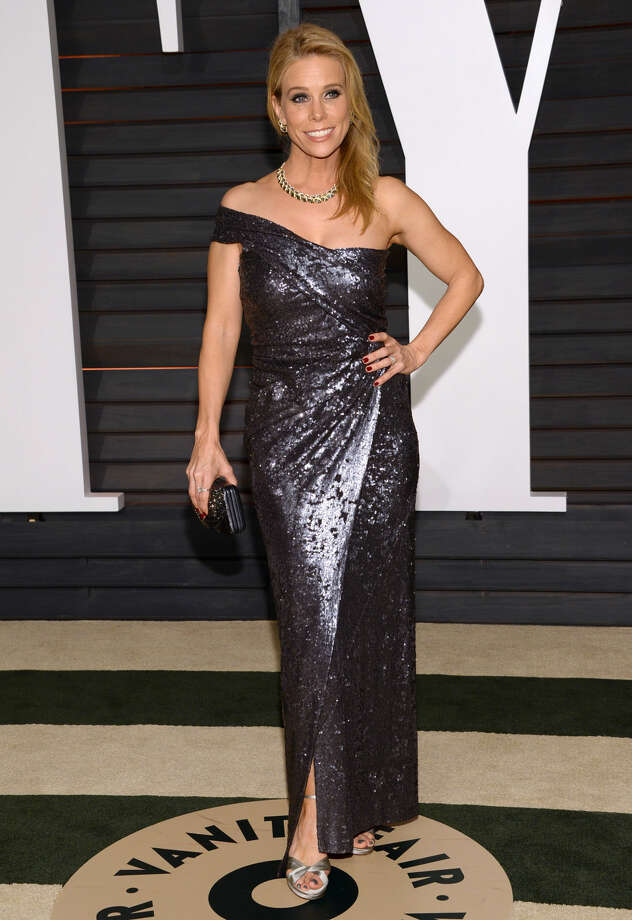 Cheryl Hines arrives at the 2015 Vanity Fair Oscar Party on Sunday, Feb. 22, 2015, in Beverly Hills, Calif. (Photo by Evan Agostini/Invision/AP)