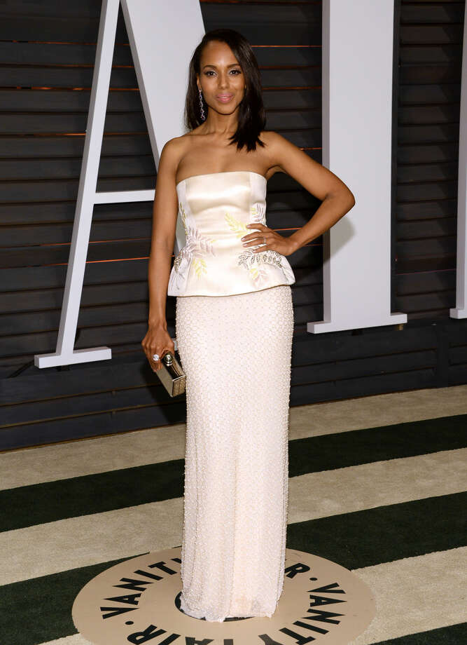 Kerry Washington arrives at the 2015 Vanity Fair Oscar Party on Sunday, Feb. 22, 2015, in Beverly Hills, Calif. (Photo by Evan Agostini/Invision/AP)