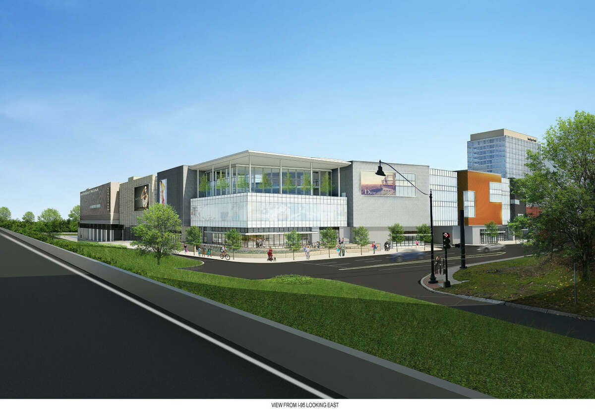 Contributed photo A rendering of the view of the SoNo Collection looking east from Interstate 95.