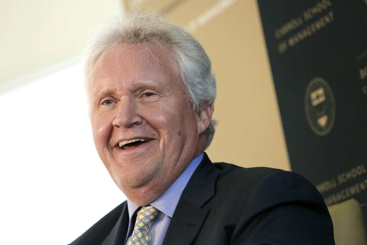 General Electric Chairman and CEO Jeffrey Immelt speaks at the Boston College Chief Executives Club in the Boston Harbor Hotel in Boston, Thursday, March 24, 2016. Immelt discussed his company's impending move from Fairfield, Conn., to Boston at a meeting of business executives. (AP Photo/Michael Dwyer)