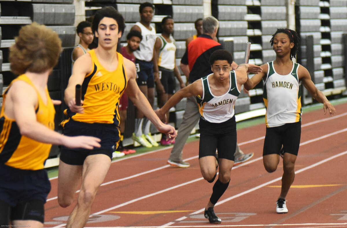 Hour photo/John Nash - Action from the State Open Track Championship meet.