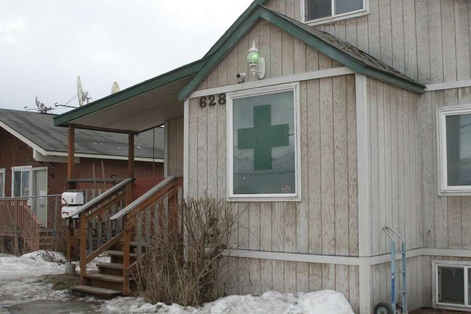 This Feb. 20, 2015 photo, shows the Alaska Cannabis Club in downtown Anchorage, Alaska. On Tuesday, Feb. 24, 2015, Alaska will become the third state in the nation to legalize marijuana. (AP Photo/Mark Thiessen)