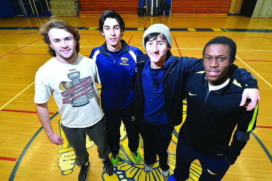 Hour Photo/Alex von Kleydorff 4x200 relay Ian Stuebe, Micah Zirn, Chris Petty, Simeon Okoro