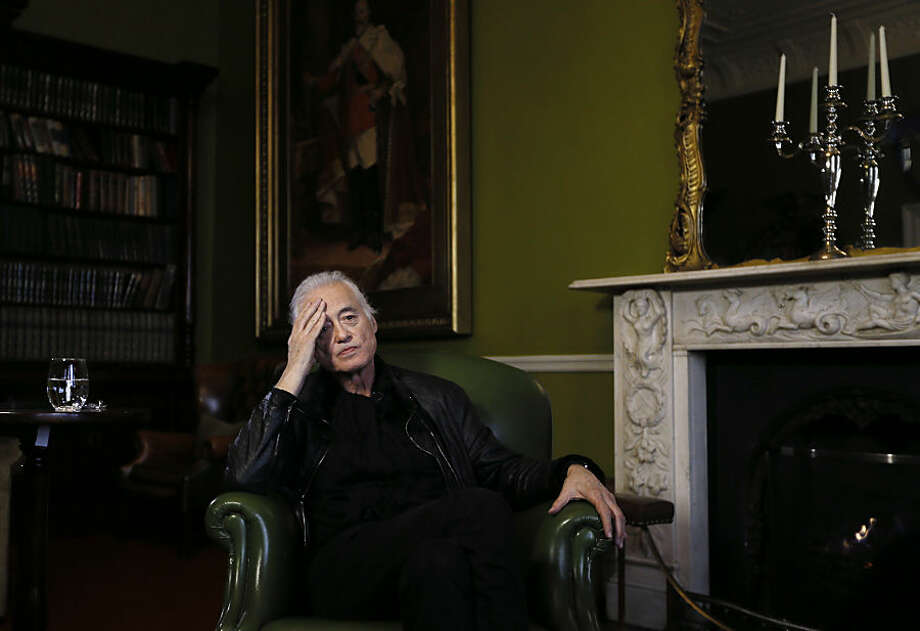 "In this picture taken Thursday, Feb. 5, 2015, British musician Jimmy Page of rock group Led Zeppelin, during an interview with Associated Press in London. Jimmy Page started the project because he couldn't believe how bad Led Zeppelin sounded. The legacy of the band he'd devoted much of his life to was being muddied by the way its classic studio albums sounded when reproduced on the ubiquitous MP3 players that are popular today. Instead of accepting that future generations would have to hear a cramped, compressed version of Led Zep's sonic booms, Page has devoted several years to completely re-mastering the band's extensive catalog in a labor of love that is, with the release of ""Physical Graffiti"" on Tuesday, Feb. 24, 2015. (AP Photo/Kirsty Wigglesworth)"