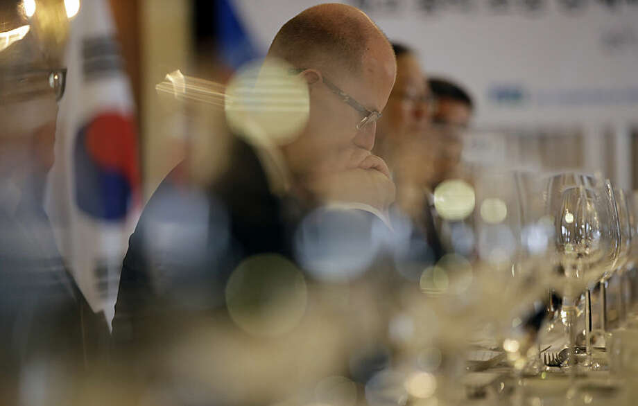 Czech Prime Minister Bohuslav Sobotka attends a business forum and luncheon with South Korean business leaders in Seoul, South Korea, Wednesday, Feb. 25, 2015. Sobotka is in South Korea for a four-day visit to discuss ways to enhance bilateral practical cooperation. (AP Photo/Lee Jin-man)