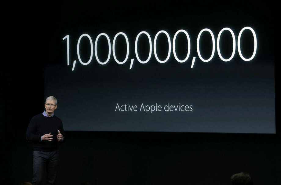 Apple CEO Tim Cook, speaks at an event to announce new products at Apple headquarters Monday, March 21, 2016, in Cupertino, Calif. (AP Photo/Marcio Jose Sanchez)