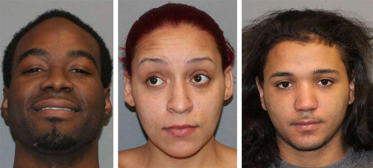 Contributed photos From left to right,ChristopherKearney, Ivelisse Kearney andSantiagoVentura were arrested Wednesday morning for drug related charges.