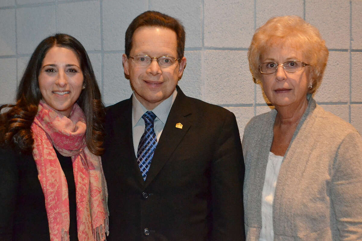From left to right: Setta Mushegian, The Center's Director of Crisis Counseling and Advocacy; David L. Levinson, Ph.D., President, Norwalk Community College; Carol Smith Harker, Interim Dean of Students, Norwalk Community College.