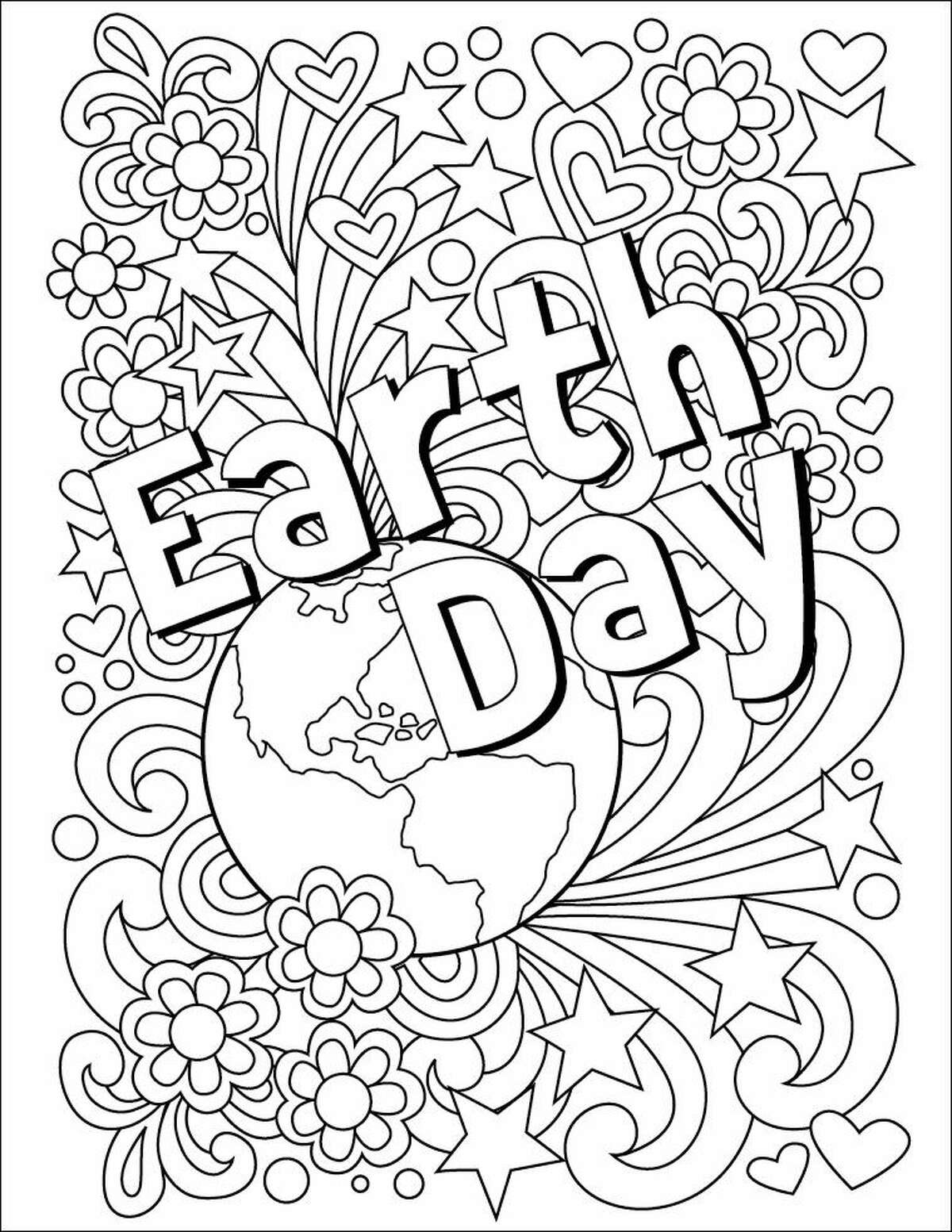 The Hour's EarthDay Coloring Contest - All ages are welcome to color the below Earth Day design in celebration of the day. The winner will run on the front page of the EarthDay edition of The Hour. Simply, clip this design out of the paper and mail it to: The Hour Coloring Contest, 1 Selleck Street, Norwalk, CT 06855. Entries must be received by April 18, 2016.