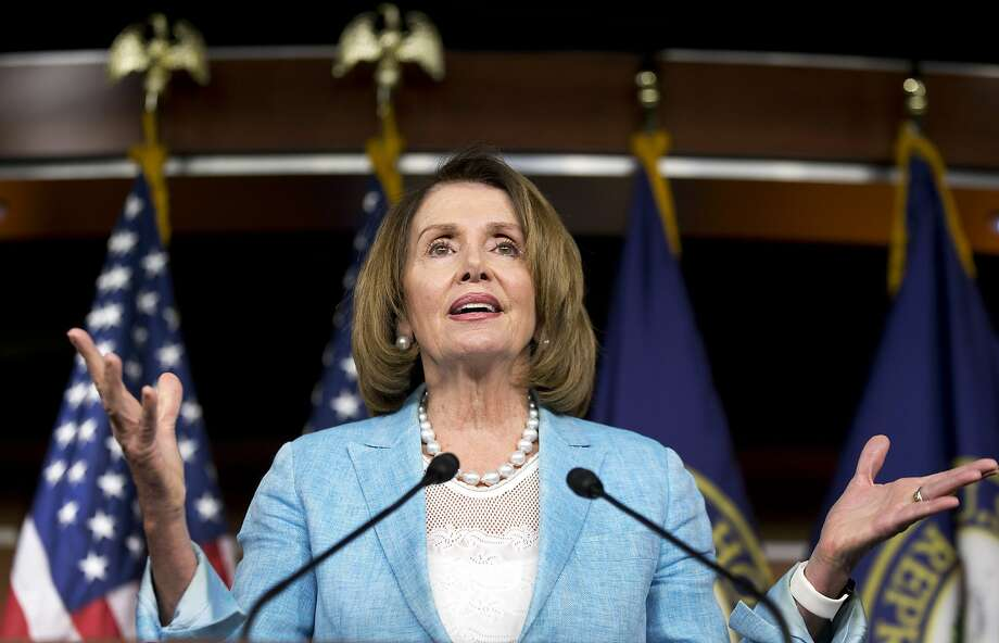 House Minority Leader Nancy Pelosi could become speaker again if enough Democrats replace Republicans who could be vulnerable because of voter disapproval of Donald Trump. Photo: Alex Brandon, Associated Press