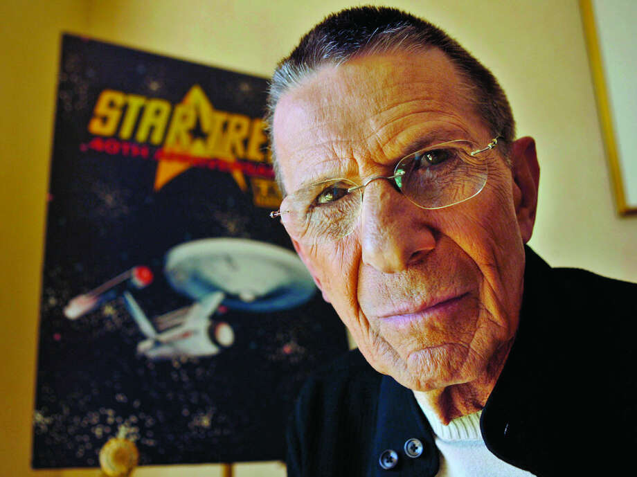 """FILE - In this Aug. 9, 2006 file photo, actor Leonard Nimoy poses for a photograph in Los Angeles. Nimoy, famous for playing officer Mr. Spock in """"Star Trek"""" died Friday, Feb. 27, 2015 in Los Angeles of end-stage chronic obstructive pulmonary disease. He was 83. (AP Photo/Ric Francis, File)"""