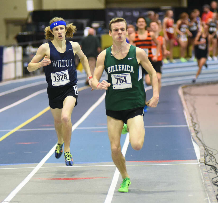 Hour photo/John Nash - Action from the New England Indoor Track Championship meet.