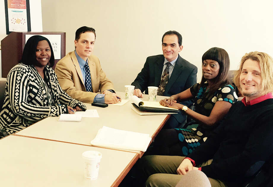 Contributed photo From left to right, Laytoya Howard, Property Manager 40 South Main; Anthony DiLauro, Executive Director, Human Services Council; James Farrales, Vice President, Mental Health Services, Continuum of Care; Tracy Young, Director of Acute Services, Continuum of Care; John Labieniec, Clinical Director, Acute & Forensic Services, Continuum of Care.