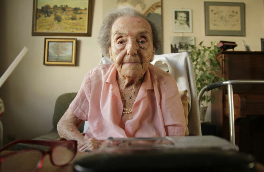 Photo dated July 2010 made available by the makers of the Oscar nominated documentary The Lady in Number 6, in which she tells her story, of Alice Herz-Sommer, believed to be the oldest-known survivor of the Holocaust, who died in London on Sunday morning at the age of 110. Herz-Sommer's devotion to the piano and to her son sustained her through two years in a Nazi prison camp. (AP Photo)
