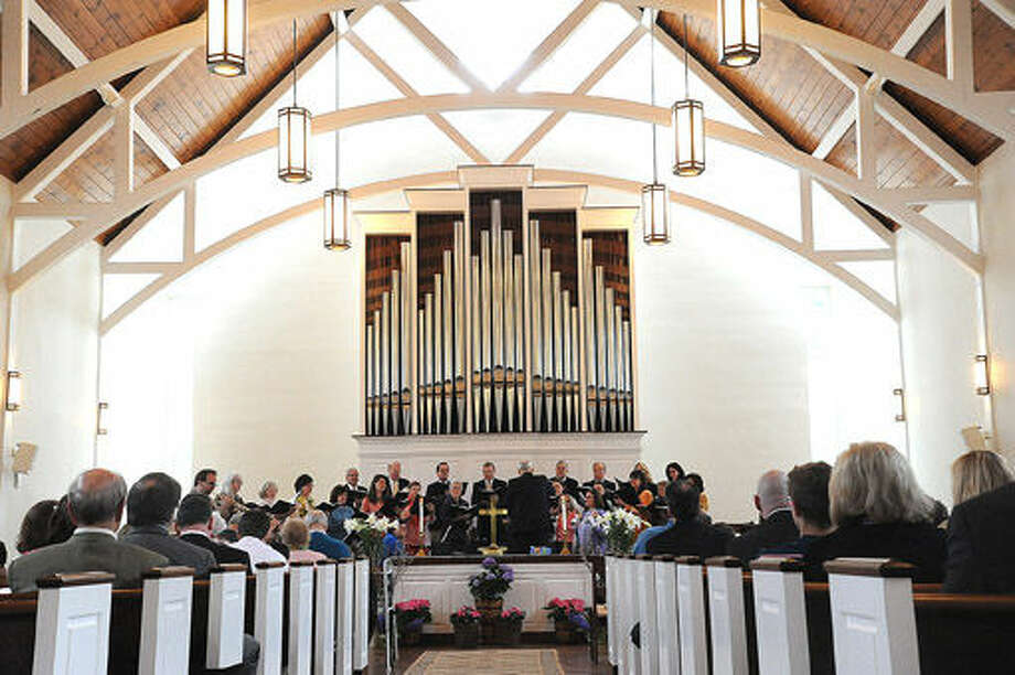 The Wilton Presbyterian Church has it's Easter service on Sunday. Photo/Matthew Vinci