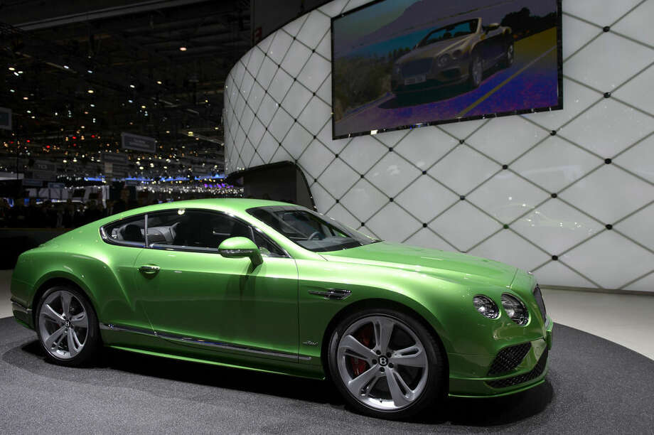 The New Bentley Continental GT Speed is shown during the first press day at the 85th Geneva International Motor Show in Geneva, Switzerland, Tuesday, March 3, 2015. The Motor Show will open its gates to the public from 5th to 15th. (AP Photo/Keystone, Martial Trezzini)