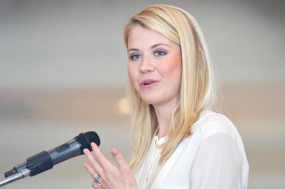 Hour Photo/Alex von Kleydorff Elizabeth Smart speaks about the Elizabeth Smart Foundation and her abduction in 2002 and how she is now an advocate for National legislation for change related to child abduction. Smart was the speaker at STAR Inc. 4th Annual Speaker's Luncheon at Woodway Country Club