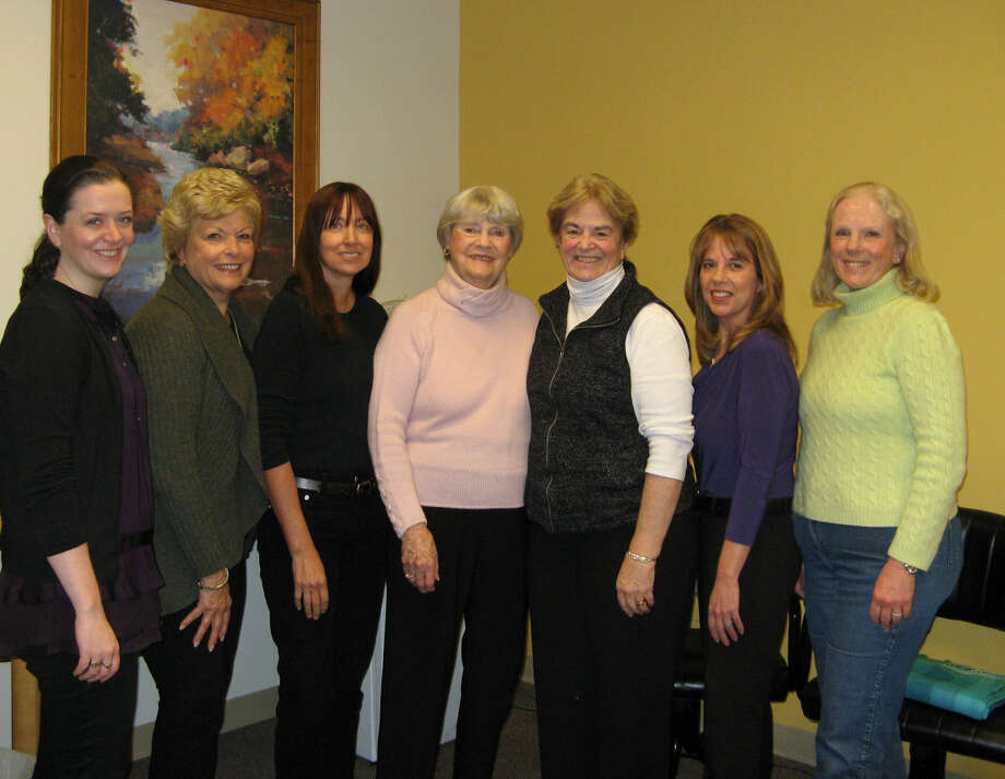 Members of Visiting Nurse & Hospice of Fairfield County's volunteer benefit committee are planning The Magic of May benefit to raise funds for the nonprofit agency's patients in need. Pictured here are (from left) Aislinn Gavin of Bethel, Carol Boehly and Ellen Lewis of Wilton, Carlyn Tiefenthaler of New Canaan, Judy Higby of Wilton, Dawn Jeffrey of Norwalk and Janet Lebovitz of New Canaan. Missing from the photo are Carol Bauer of Wilton and Ken Edgar of Weston.