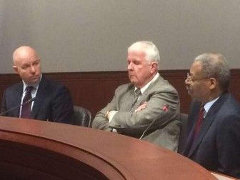 CTMIRROR.ORGMichael P. Lawlor, John Santa and Sen. Eric Coleman talk about bail reform.