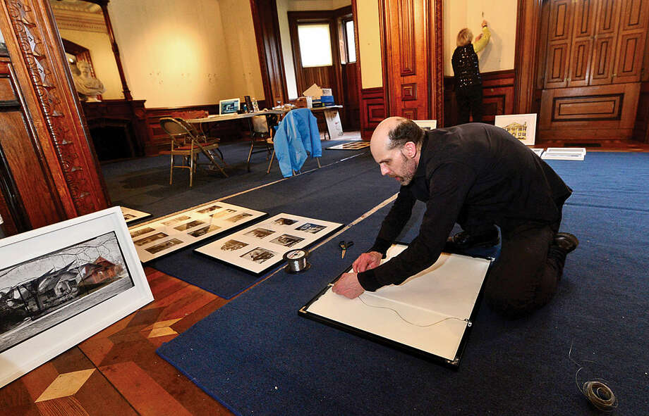 Hour photo / Erik Trautmann The Lockwood-Mathews Mansion Museum will kick off its 50th anniversary year with a photography exhibition of the analog and digital work of artist amd professor Bruce Dunbar of the Silvermine School of Art. The exhibiton, Endangered and Re-envisioned: Iconic Landmarks and Interiors, opens on April 7th, with an opening reception at 5:30pm and will run through June 29th.