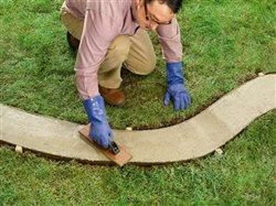 DIY concrete borders make a great landscape investment