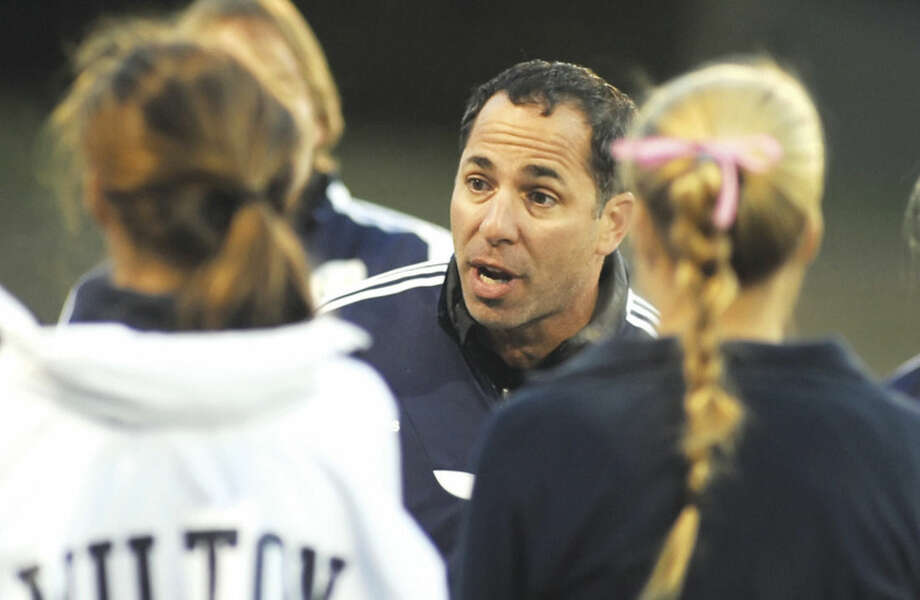 Hour photo/John NashJohn Salvatore has stepped down as girls soccer head coach at Wilton after two successfull season, so he can focus on spending time with his family.