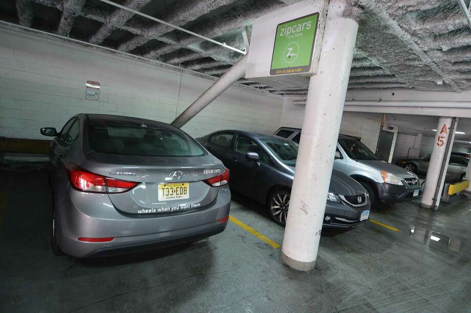 In Stamford, Zipcar customers can pick up the cars at the Landmark Square office complex or at the Harbor Point Gateway Garage. The service caters to urbanites who don't need to drive everyday.