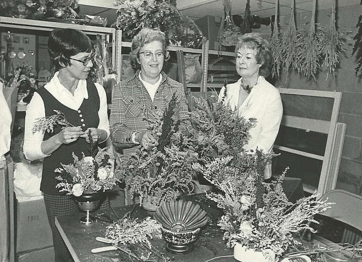 Hour archives Norwalk Garden Club members prepare for an art exhibit in 1975.