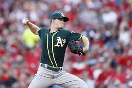 CINCINNATI, OH - JUNE 10: Sonny Gray #54 of the Oakland Athletics pitches against the Cincinnati Reds in the second inning of the game at Great American Ball Park on June 10, 2016 in Cincinnati, Ohio. (Photo by Joe Robbins/Getty Images)