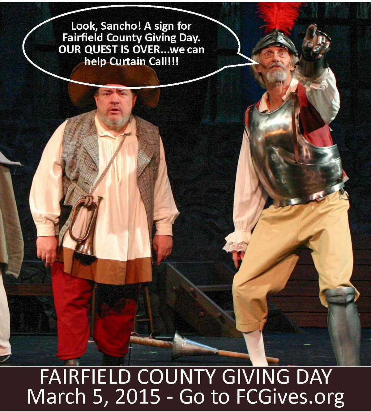 Contributed photo An example of Curtain Call's social media campaign to raise money for Giving Day.